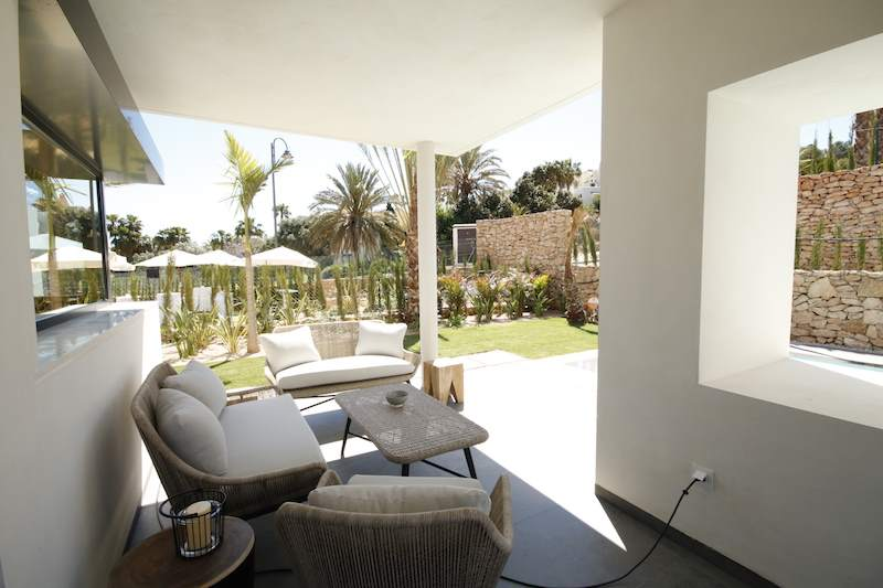 Outdoor lounge las acacias villas at la manga club